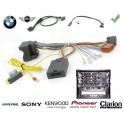 COMMANDE VOLANT BMW SERIE 5 2003- (E60-E61) - Pour SONY complet avec interface specifique