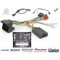 COMMANDE VOLANT Mercedes SLK 2004- FAKRA SANS AMPLI - Pour SONY complet avec interface specifique
