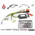 COMMANDE VOLANT Mitsubishi Lancer 2007-2010 AVEC AMPLI ROCKFORD FOSGATE - Pour SONY complet avec interface specifique
