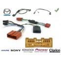 COMMANDE VOLANT Mazda MX5 2006- AVEC AMPLI - Pour Pioneer complet avec interface specifique