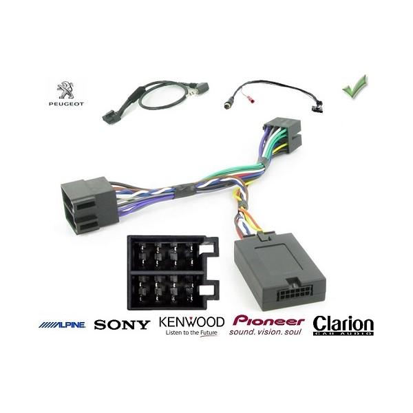 Adaptateur pour Peugeot/308 pour connecter votre autoradio aux commandes volant