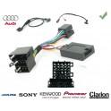 COMMANDE VOLANT Audi A6 -2006 - Pour Pioneer complet avec interface specifique